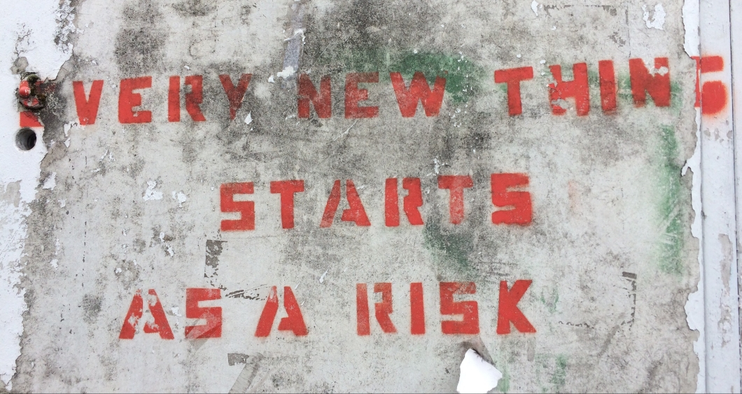Every new thing starts as a risk